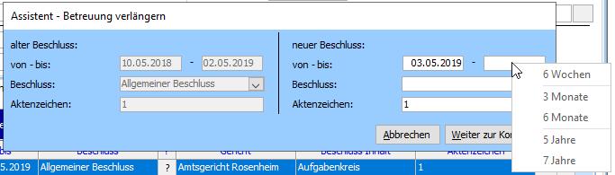 Screenshot Betreuungsbehörde PLUS 2